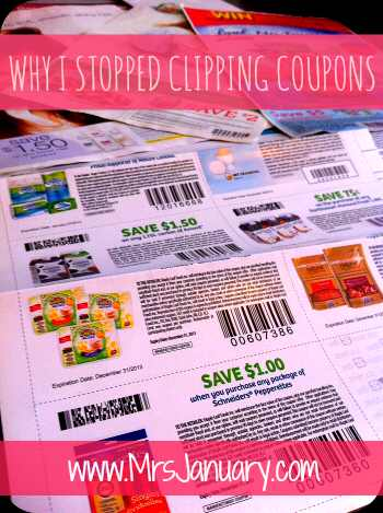 Why I Stopped Clipping Coupons