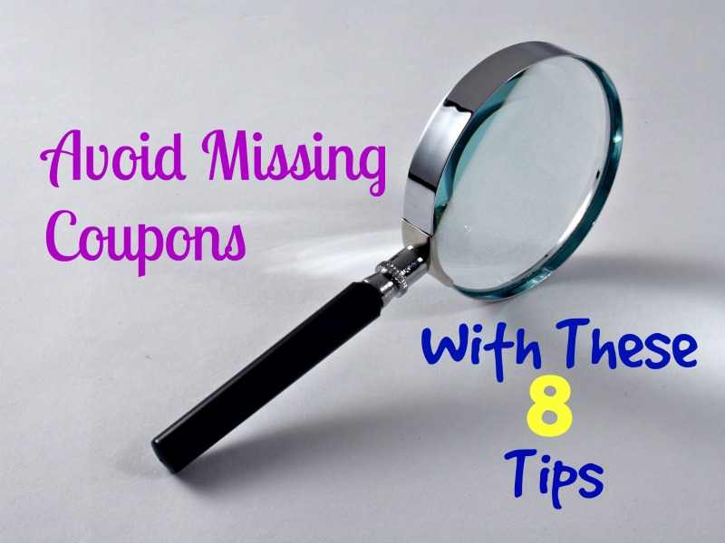 avoid missing coupons