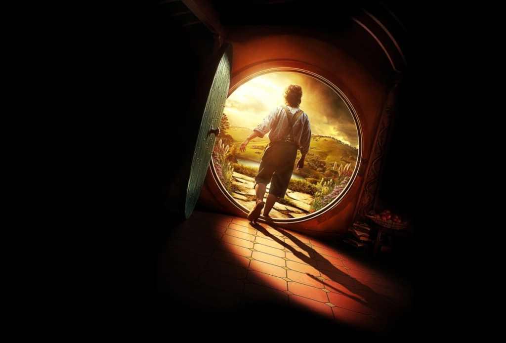 bilbo leaving hobbit hole