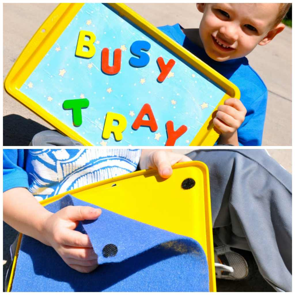 busy tray collage