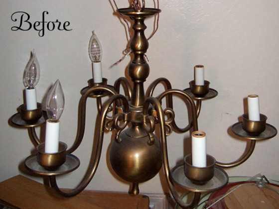 chandelier before