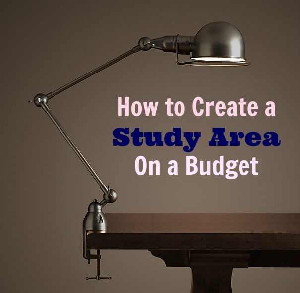 create study area on a budget