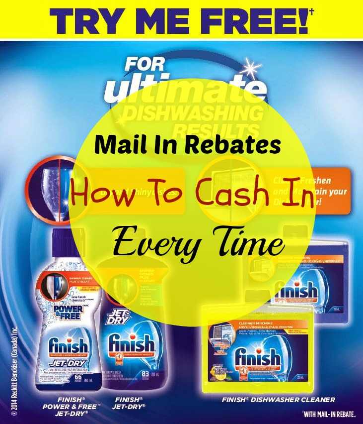 mail in rebates cashing in