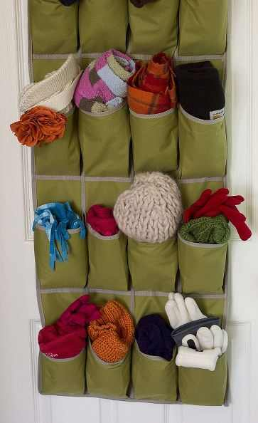 shoe storage for gloves