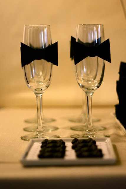 tuxedo bow champagne