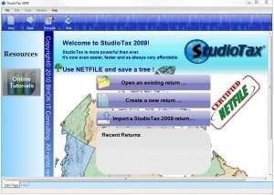 StudioTax screen shot