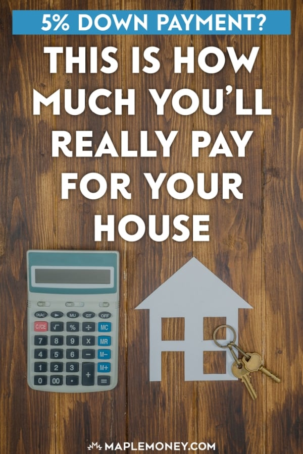 Thinking of buying a house with a small 5% down payment? For a $500,000 house, the down payment would be $25,000. That's ridiculously cheap, right? WRONG!