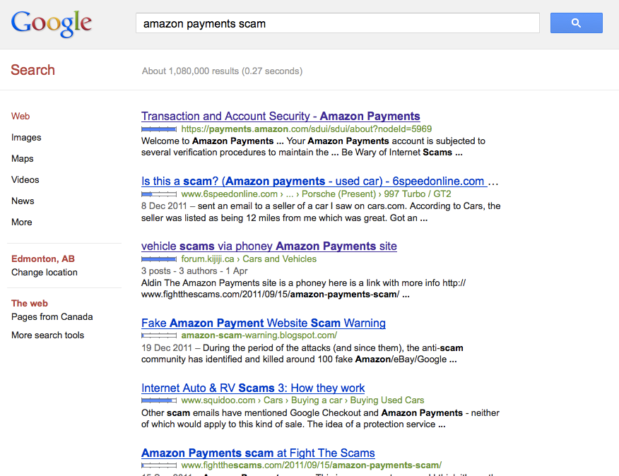 amazon payments - googled