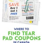 """""""Good"""" coupon tear pads are difficult to find these days. That's why I'm sharing with you some tips to find tear pad coupons."""