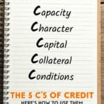 In order the assure that you can get your desired loan at a favourable rate, here are a few ways you can use the 5 C's of credit to your advantage.