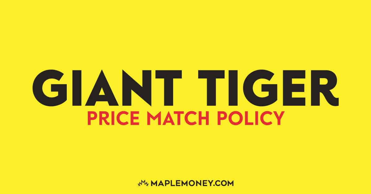 Giant Tiger – Price Match Policy