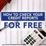 You can check your credit reports for free by visiting Equifax and TransUnion and finding their forms, or get free credit reports using the pdf found here.