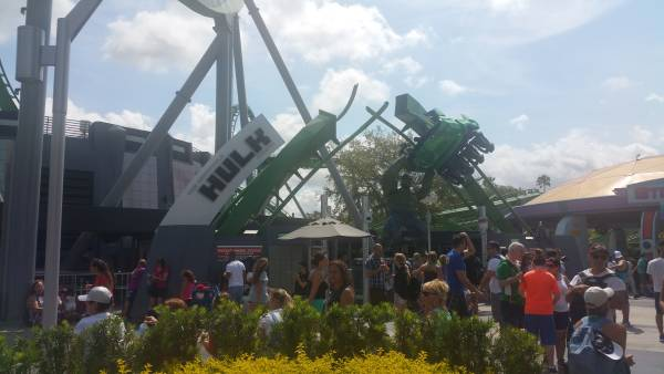 The Incredible Hulk Coaster at Universal Orlando Resort definitely requires lockers.