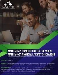 MapleMoney Financial Literacy Scholarship Poster