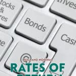 Real rate and nominal rate are used to refer to rates of return on bonds. These terms represent a method of adjusting bond yields for the rate of inflation.