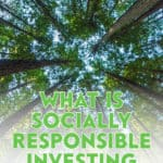 Socially responsible investing, or sustainable investing, means investing in companies that engage in sustainable and socially responsible practices.