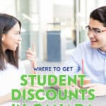The best possible way to receive a student discount is to simply ask for one. Most stores offer them, but may not actively promote this service.