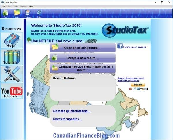 StudioTax Screenshot